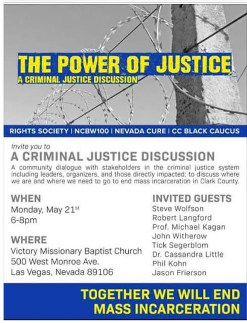 Poster for the Power of Justice - A Criminal Justice Discussion