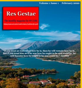 Front of First issue of Res Gestae, Nevada Cure magazine