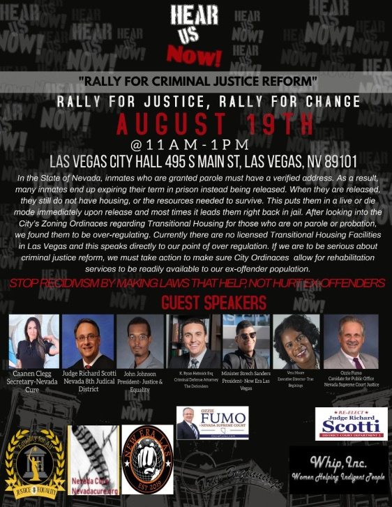 Rally for Justice poster